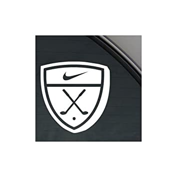 Nike golf emblem white color home decor auto car macbook die cut window notebook bike wall
