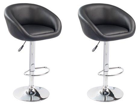 Comptoirxl sgabello di bar design lounge chester set di 2 nero