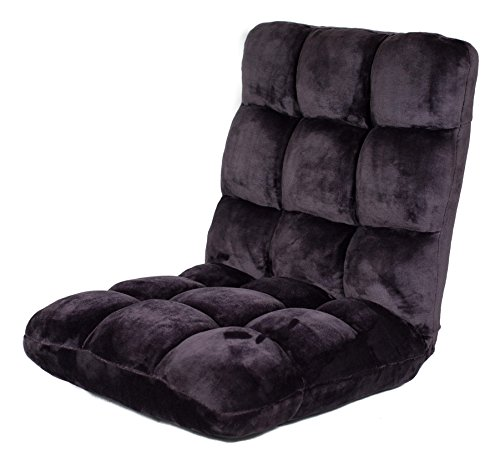 BirdRock Home Adjustable 14-Position Memory Foam Floor Chair & Gaming Chair (Eggplant)