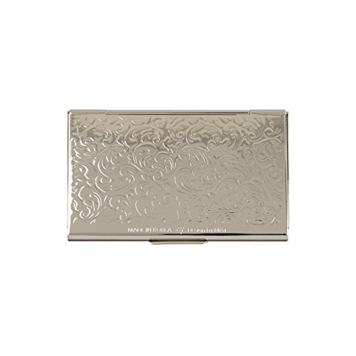 business name card holder stainless steel case Mother of Pearl Art Arabesque by MOP antique (Image #4)'