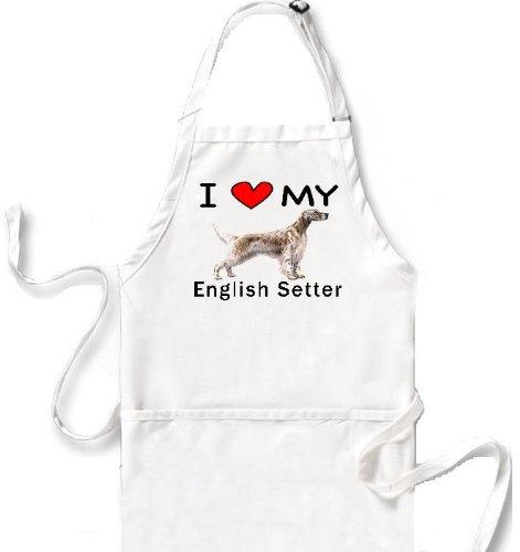 I Love My English Setter Apron