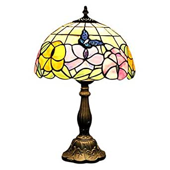 desk lamp amazon style butterfly stained glass table lamp 30032