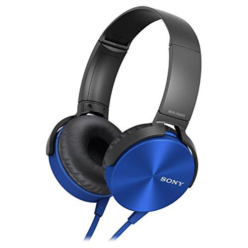 Sony MDR-XB450AP Extra Bass Headphone - Blue (International Version U.S. warranty may not apply)