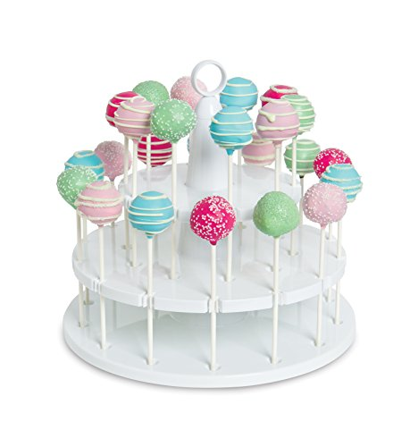Bakelicious Cake Pop Stand, 24-Piece, White