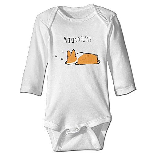 TCJX Weenkend Plans Corgi Sleep Baby Jumpsuit Nation 0-24 M Baby Infant Boy Girl Cotton Romper Bodysuit Onesies Clothes White]()