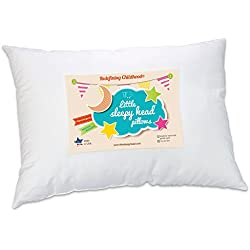 Little Sleepy Head Toddler Pillow, White, 13 X 18