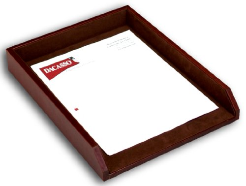Dacasso Mocha Leather Letter Tray