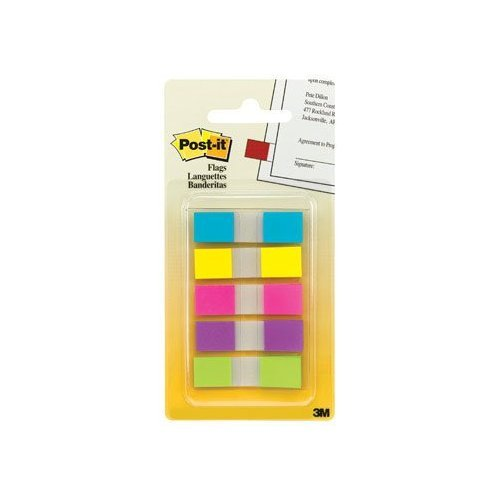 Post-It Flags In Portable Dispenser 0.47 In. X 1.7 In. Yellow by 3M (Image #1)