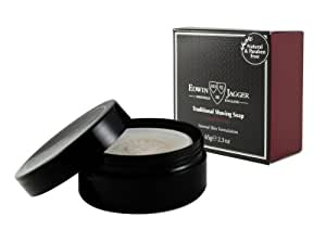 Edwin Jagger 99.9% Natural Traditional Shaving Soap In Travel Tub - Sandalwood, 2.3-Ounce
