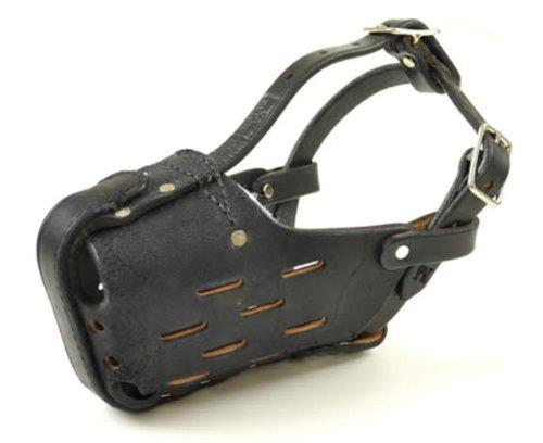 X-Large Leather Dog Muzzle for Large Shepherds - RedLine K9
