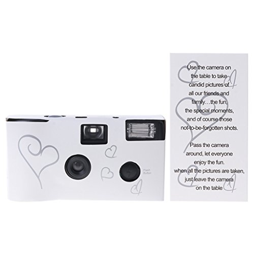 honqaour 36 Photos Power Flash Single Use One Time Disposable Film Camera Party Gift