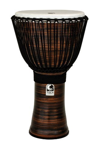 Toca TF2DJ-14SCB Freestyle II Rope Tuned 14-Inch Djembe with Bag - Copper Spun Finish by Toca
