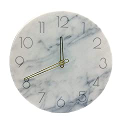 MansWill Acrylic Wall Clock, 11 Inch Super Quiet Movement Country-Style Round Hanging Clock/Decorative Vintage Silent Non Ticking Battery Operated Timer for Living Room Kitchen Bathroom Bedroom