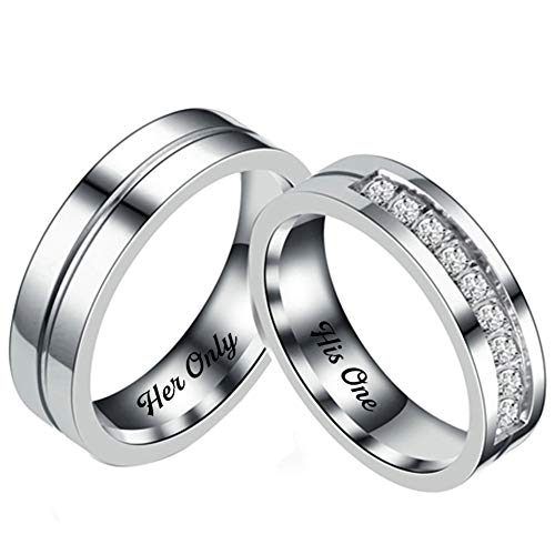 couple rings silver - 8