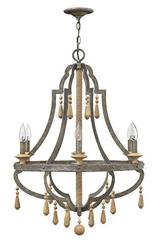 Fredrick Ramond FR42286DIR, Cordoba Candle Chandelier Light, 120 Watts, Distressed - Chandelier Metal Ramond Fredrick