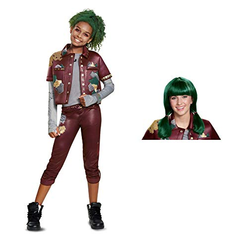 Zombies Eliza Costume S (4-6X) with Wig -