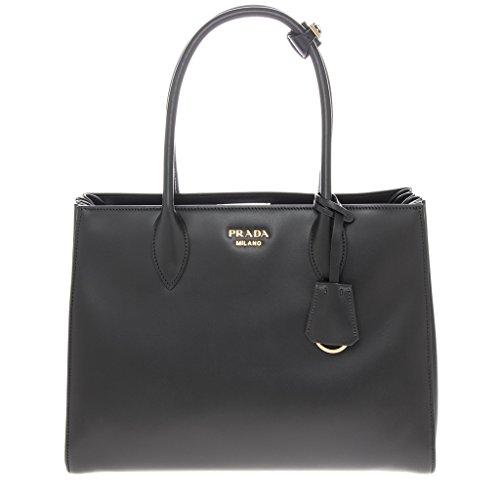 Prada Women's Bibliotheque Bag Calf Leather Back