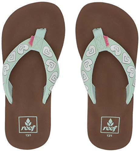 (Reef Girls' Kids AHI Color Change Sandal, Mint Hearts 131 M US Little)