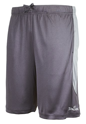 Spalding Mens Active Athletic Performance Basketball Shorts with Marbled Side and 10
