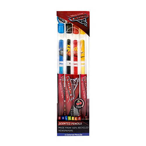 Disney Pixar Cars 3 Colored Smencils 4-Pack of Scented Coloring Pencils ()