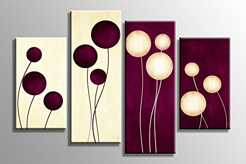 Floral Canvas Art Wall Decor for Bedroom Living Room Elegant Flowers Modern Abstract Painting Stretched and Framed 4 - India In Glasses Ray X