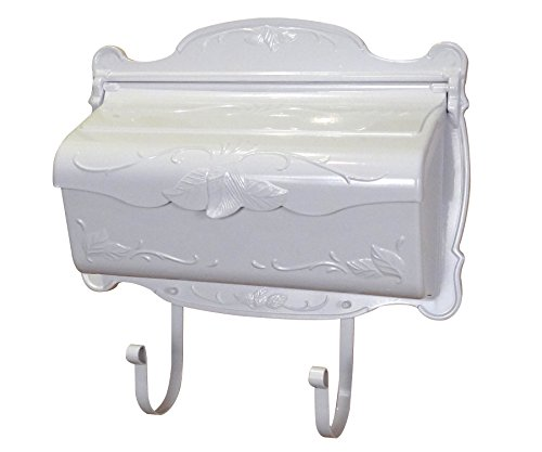 Mount Design Wall Mailbox (Special Lite Products SHF-1001-WH Floral Horizontal Mailbox White)