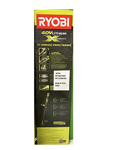 Ryobi RY40202 40-Volt X Lithium-ion Attachment Capable Cordless String Trimmer New (Tool Only) by Ryobi