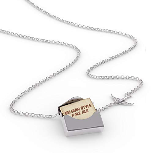 NEONBLOND Locket Necklace Belgian Style Pale Ale Beer, Vintage Style in a Silver Envelope ()