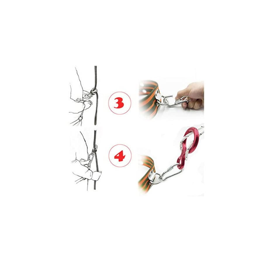 Memela(TM)35KN figure 8 Aluminum Locking Rock Climbing Carabiner Screwgate Carabiner Hook Twist Lock Carabiner Outdoor Sport Tools
