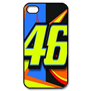 Valentino Rossi theme pattern design For Apple iPhone 4,4S Phone Case