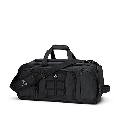 6 Pack Fitness Expert Beast Duffle 500 Stealth Black w/Removable Core