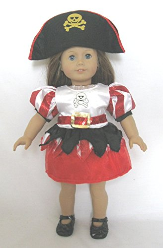 [Pirate Halloween Costume for 18 Inch Dolls Including the American Girl Line] (Doll Halloween Outfit)