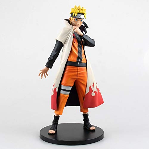 Allegro Huyer Naruto Action Figure 25cm Naruto Action Figure Naruto Cosplay Yondaime Hokage Model Yondaime Hokage Cloak Naruto with Gift Box ()