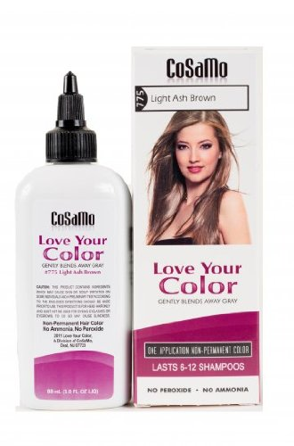 CoSaMo Love Your Color Hair Color 775 Light Ash Brown (Pack of 3) by love your color