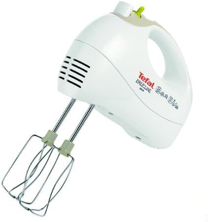 Tefal HT4111 Batidora, potencia 450 vatios, 5 velocidades, color blanco