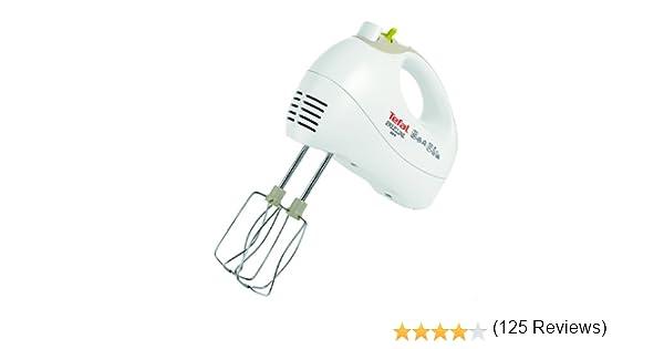 Tefal HT4111 Batidora, potencia 450 vatios, 5 velocidades, color blanco: Amazon.es: Hogar