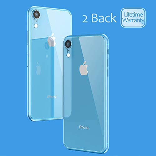 (JingooBon Back Screen Protector for iPhone XR [2-Pack], HD Tempered Glass [3D Touch] Rear Glass Film High Definition for iPhoneXR (6.1 inch))