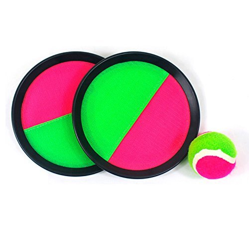 "Mseeur ball Paddle Catch and Toss Game Set- 7"" Handheld Stick Disc Catch Ball Game"