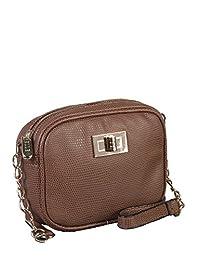 ELLE Small Shoulder Bag, Cognac, Under Seat