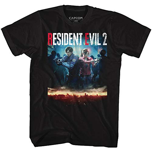 Resident Evil Horror SyFy Film Video Game Re2Make Cover Adult T-Shirt Tee