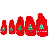UHeng Pet Dog Suit Clothes Christmas Tree Holiday Costume Warm Hoodie