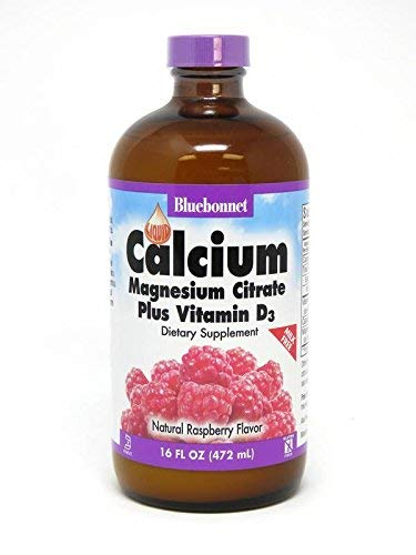 Bluebonnet Nutrition, Liquid Calcium, Magnesium Citrate Plus Vitamin D3, Natural Raspberry Flavor, 2 Pack (16 fl oz (472 ()