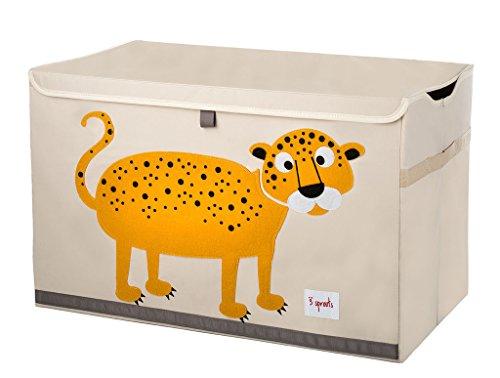Cute Leopard Toy Chest Storage Bin Container and Organizer