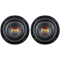 (2) Boss D10F 10 1600 Watt Slim Shallow Low Profile Car Audio Subwoofers Subs