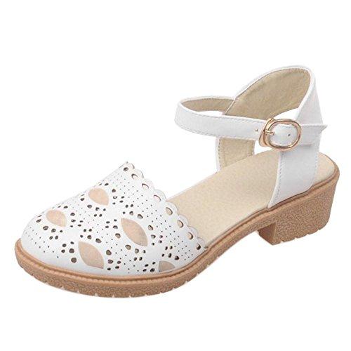2 à femmes la Chaussures Coolcept cheville blanc pour à bride zwUdqRP