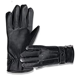 Amazon.com : KYJ Heated Gloves Leather Men Women Touch