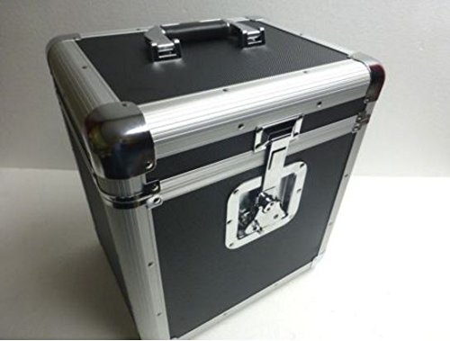 12'' or Lp Record Box Euro Style Case Holds up to 70 Vinyl Records by ZXPC