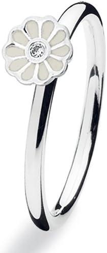 Spinning® 14908S - Anillo de Mujer de Plata de Ley con 1 circonita ...