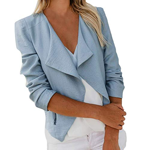 Ladies Fedora Furry Hat (POHOK HOT!Womens Blazers and Jackets Professional,Long Sleeve Open Front Short Suit Work Office Coat)