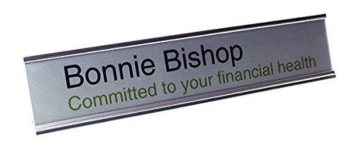 TMBSilver 2''x10'' Desk Sign,Laser by The Mighty Badge (Image #1)